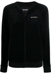 Diesel Uflt-Bonshin-Z Zip Up Sweatshirt - Preto
