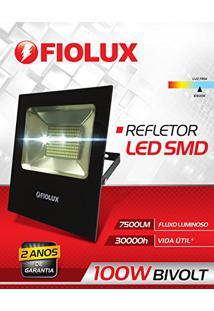 Refletor Led Smd 100 W Fiolux Holofote Bivolt 110/220 A Prova D'Água Ip65