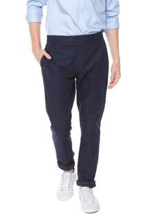 Calça Calvin Klein Chino Estampada Azul