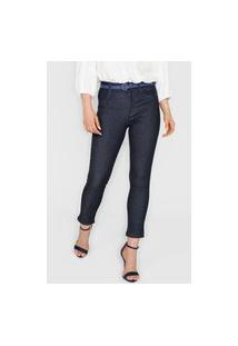Calça Jeans Sawary Skinny Lisa Azul-Marinho