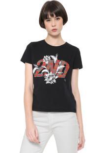 Camiseta Ellus 2Nd Floor Camuflagem Preta
