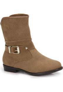 Ankle Boots Infantil Molekinha Estrela - 27 Ao 34 - Caramelo