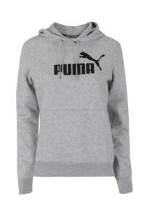 151095f6b ... Blusão De Moletom Com Capuz Puma Essentials Logo Hoody Fleece - Feminino  - Cinza Claro