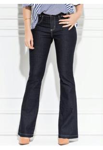 46068cdb9afe0 Posthaus Calça Flare Quintess Branca Cintura Alta. Ir para a loja  Calça  Flare Jeans Escuro
