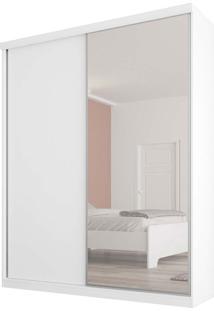 Guarda-Roupa 2 Portas 3 Gavetas Virtual 176 C/Espelho Branco Maderado Robel Móveis