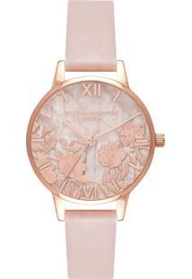Relógio Olivia Burton Feminino Couro Rosa - Ob16Mv84