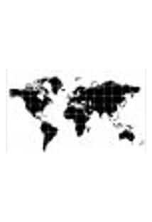Painel Adesivo De Parede - Mapa Mundi - Mundo - 1381Pnm