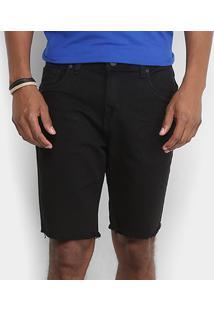 Bermuda Sarja Calvin Klein Barra Desfiada Five Pockets Masculina - Masculino