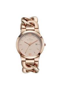 Relógio Technos Feminino Rose Analógico 2115Mwe1C