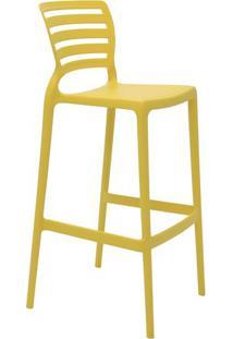 Cadeira Alta Sofia- Amarela- 104X49,5X47Cm- Tramtramontina