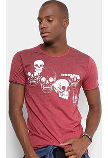 Camiseta Gangster Caveiras Masculina - Masculino