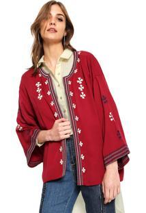 Kimono Anany Bordado Vinho