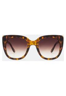 Óculos De Sol Feminino Quadrado Tartaruga | Accessories | Marrom | U