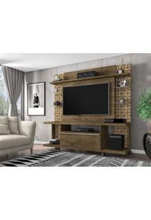 Estante Home Para Tv Até 50 Polegadas 1 Porta Torino Móveis Bechara Madeira Rústica/Madeira 3D