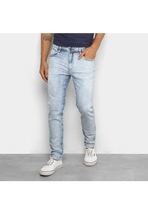 Calça Jeans Delavê Cavalera Masculina - Masculino-Azul