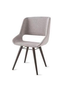 Cadeira Dife Assento Estofado Rustico Cru Base Tabaco - 55879 Rustic