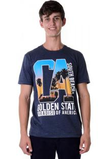 Camiseta Golden State Azul Marinho