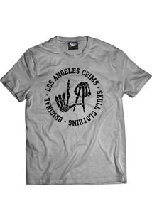 Camiseta Manga Curta Skull Clothing La Crims Cinza