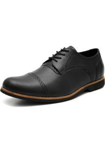 Sapato Social Shoes Grand Veneza Tamanho Especial Preto