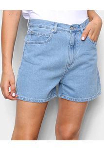 Bermuda Jeans Lacoste Lisa Feminina - Feminino-Azul Claro