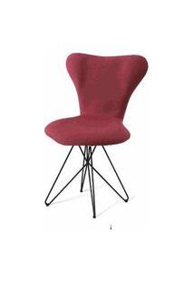 Cadeira Jacobsen Series 7 Marsala Com Base Estrela Preta - 55926 Preto