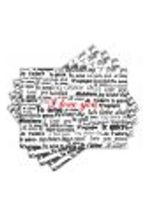 Jogo Americano - Love You Com 4 Peças - 247Jo