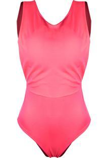 Body Outlet Dri Alça Grossa Neon Color Verão Decote Costas Rosa Neon