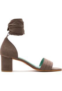 Blue Bird Shoes Sandália Salto Bloco - Marrom