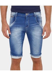 Bermuda Jeans Razon Stone Skinny Masculina - Masculino
