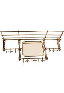 Porta-Toalhas De Metal Decorativo Com Espelho Lonmay