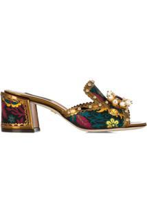Dolce & Gabbana Sandália Slip-On Keira - Preto