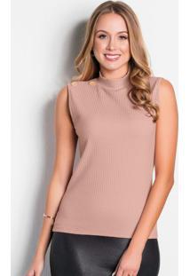Blusa Rosê Com Gola Moda Evangélica