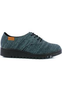 Sapato Oxford Beira Rio - Feminino-Jeans