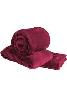 Cobertor Super Soft De Casal - Vermelho Escuro - 180Sultan
