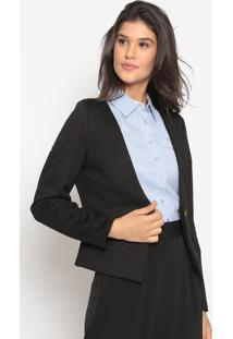 Blazer Com Recortes- Preto- Pacific Bluepacific Blue