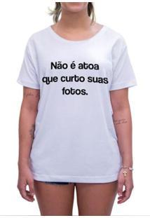 Camiseta Impermanence Estampada Curto E Comento Feminina - Feminino-Branco