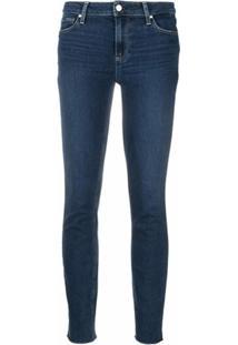 Paige Calça Jeans Skinny Verdugo Cintura Média - Azul