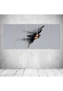 Quadro Decorativo - Military Raptor - Composto De 5 Quadros - Multicolorido - Dafiti