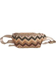 Pochete Its! Summer Palha Chevron Bege