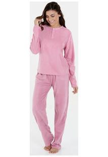 Pijama Feminino Manga Longa Soft Estampado Marisa