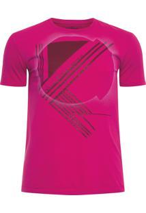 Camiseta Masculina Ckj Estampa E Gel - Rosa