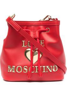 Love Moschino Bolsa Transversal Com Monograma - Vermelho