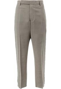 Rick Owens Calça De Alfaiataria Cropped - Cinza