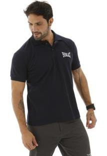 Camisa Polo Logotipia Everlast - Masculino-Marinho