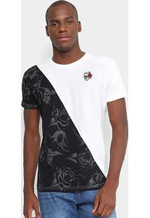 Camiseta Gangster Especial Masculina - Masculino-Bronze+Preto