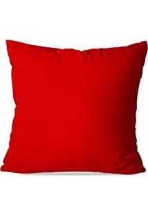 Capa De Almofada Lisa Vermelha 45X45Cm