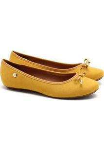 Sapatilha Vizzano Camurça Amarelo