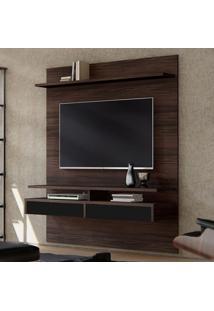 Painel Para Tv Até 65 Polegadas Smart Castanho E Preto 160 Cm