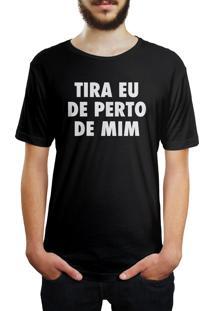 Camiseta Hunter Tira Eu De Perto De Mim Preta