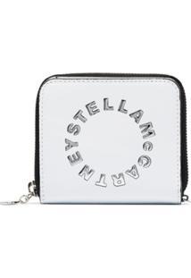Stella Mccartney Carteira Com Placa De Logo Pequena - Branco